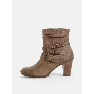 s.oliver Světle hnědé dámské kotníkové boty s.Oliver
