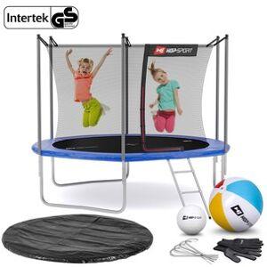 Hop-Sport Trampolína  10ft (305cm) s vnitřní ochrannou sítí - 3 podpůrné tyče