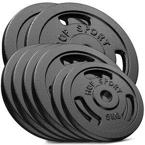 Hop-Sport Sada litinových kotoučů 80kg (2x20 2x10 2x5 4x2,5)