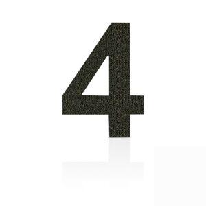 Heibi Nerezová domovní čísla číslice 4, hnědá mocca