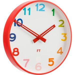 FORLIVING s.r.o. Dětské nástěnné hodiny Future Time FT5010RD Rainbow red 30cm