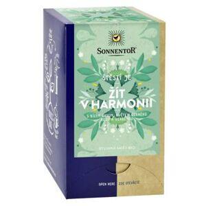 Sonnentor Žít v harmonii ŠTĚSTÍ JE - bylinný čaj BIO porcovaný 18x1,5g