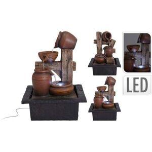 Koopman Fontána svíticí amfory polystone hnědá mix 28,8cm