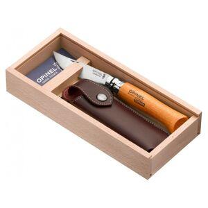 Opinel  VR N°08 Carbon + pouzdro + box viz obrázek Zavírací nůž