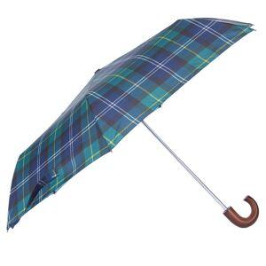 Barbour Skládací tartanový deštník Barbour - Seaweed Tartan