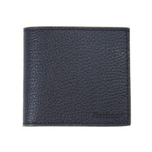 Barbour Peněženka Barbour Billfold Wallet ze zrnité kůže - Black