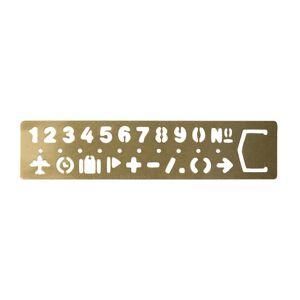 Traveler's Company Mosazná obkreslovací šablona a záložka s čísly Traveler'sCompany