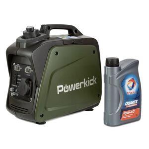 Powerkick Elektrocentrála Generator 800 +1l oleje Zdarma!