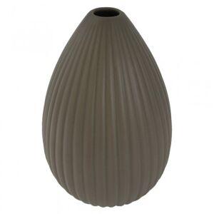 StarDeco Keramická váza vk36 hnědá matná (25 cm)