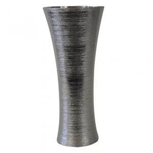 StarDeco Keramická váza vk64 stříbrná (35 cm)