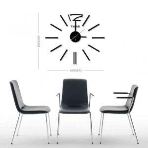 StarDeco Nástěnné hodiny - h20, 50 cm, černá