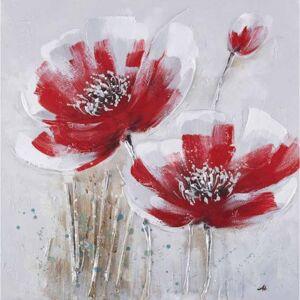 StarDeco Ručně malovaný obraz redflowers (60x60 cm)