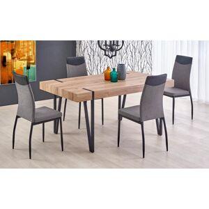 Halmar Jídelní stůl jídelní stůl julian (dub san remo, černá)