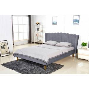 Halmar Čalouněná čalouněná postel florence 160x200, šedá, včetně roštu