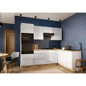 Stolkar Rohová rohová kuchyně lisse pravý roh 255x170 cm (bílá lesk)
