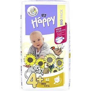 BELLA Plenky Bella Baby Happy Maxi Plus Big Pack 62 ks