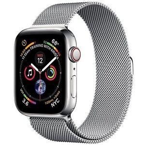 COTEetCI ocelový magnetický řemínek pro Apple Watch 42 / 44mm stříbrný