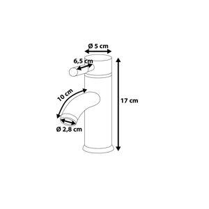 Beliani Chromovaná vodovodní baterie RUSUMO