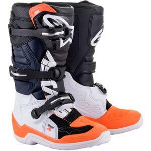 Alpinestars Tech 7S Mládež Motokrosové boty 42 Černá Bílá Oranžová