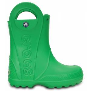 Crocs Handle It Rain Boot Kids - Grass Green, C12 (29-30)
