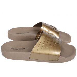 Giorgio Armani Pantofle X4PS02 zlatá - Emporio Armani zlatá 44