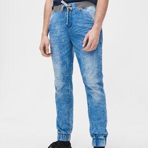 Cropp - Džínové kalhoty joggers slim - Modrá - pánské - XW803-50J 28/30 male