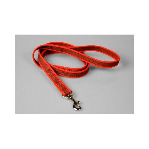Gummierte rote Hundeleine   Handschlaufe   2 x 200 cm