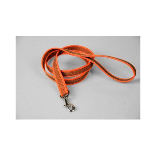 Super Gummierte orange Hundeleine   2 x 120 cm lang   Handschlaufe