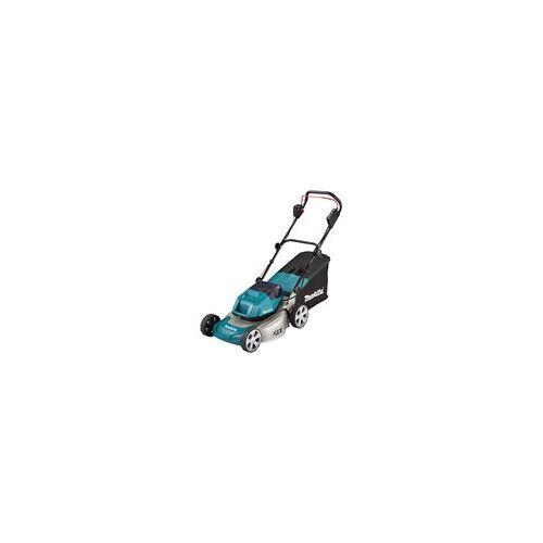 Makita DLM460Z Akku-Rasenmäher (ohne Ladegerät und Akku, inkl. Fangbox, Mulchkit)