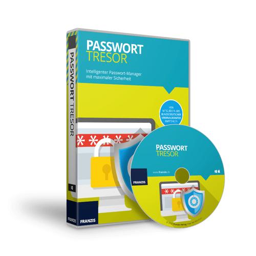 FRANZIS.de (ausgenommen sind Bücher und E-Books) Passwort Tresor