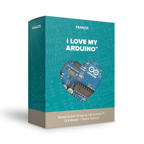 FRANZIS.de - mit Buch I love my Arduino™
