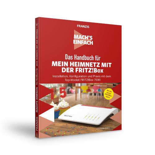 FRANZIS.de - mit Buch Das Handbuch für Mein Heimnetzwerk mit der FRITZ!Box - Mach's Einfach