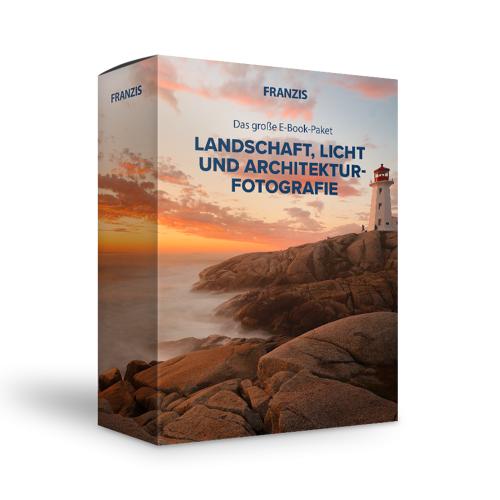 FRANZIS.de - mit Buch Das große E-Book-Paket Landschaft, Licht und Architektur-Fotografie