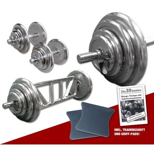 Megafitness Shop Chrom - Mega Bizeps-Trizeps-Set - 78 kg