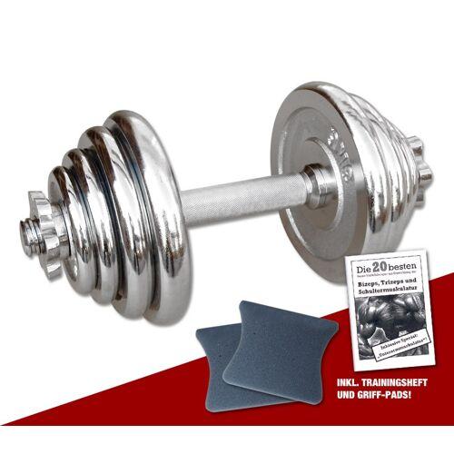 Megafitness Shop Chrom-Kurzhantel 15 kg - 13-fach verstellbar