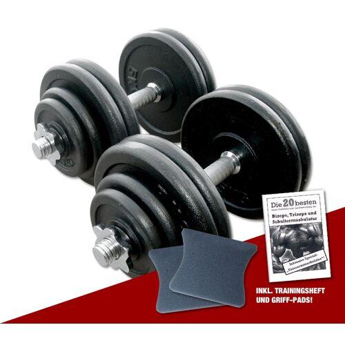 Megafitness Shop Guss Kurzhantel-Set 2 x 30 kg
