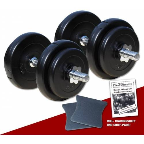 Megafitness Shop PE - Kurzhantel-Set 2 x 10 kg