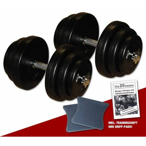 Megafitness Shop PE - Kurzhantel-Set 2 x 20 kg