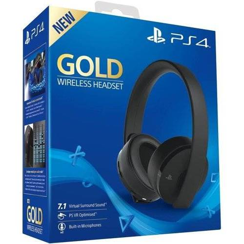 Headset Gold 7.1 VR, Wireless, black, Sony - PS3/PS4/PSV