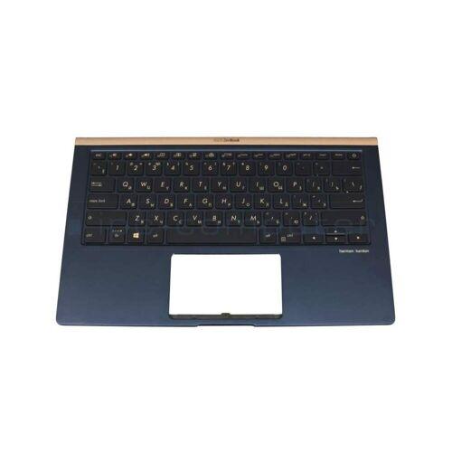 IPC TRUX43 Tastatur inkl. Topcase RU (russisch) schwarz/blau mit Backlight Original