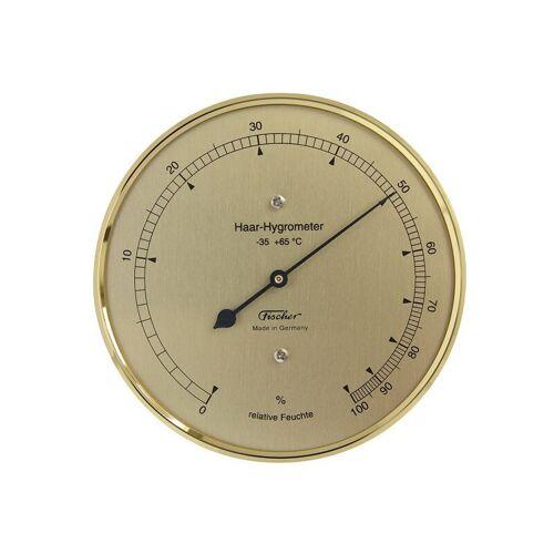 Fischer Wetterstation Haar-Hygrometer Messing