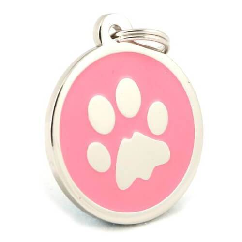 Schmuckado Hundemarke Rosa mit Gravur - 2067