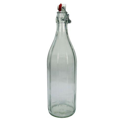 Italy Design Glasflasche mit Bügelverschluß, Bügelflasche