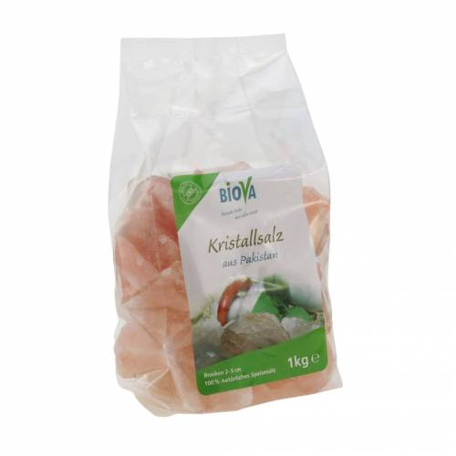Biova Punjab Kristallsalz 1kg Brocken