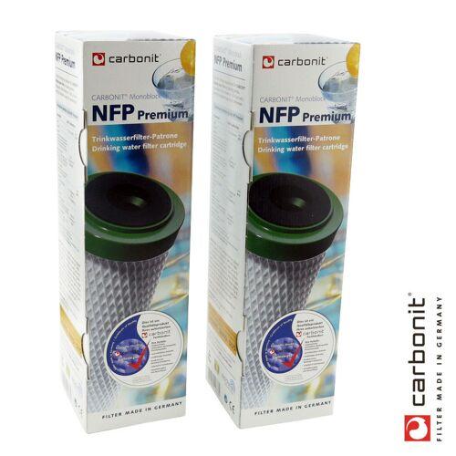 Carbonit NFP Premium Carbonit 2er Set Monoblock Wasserfilter