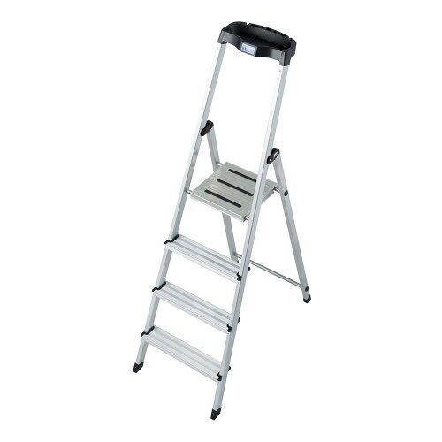 KRAUSE MONTO Leiter Safety Haushaltsleiter Stehleiter 4 Stufen