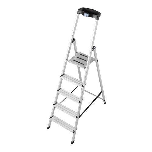 KRAUSE MONTO Leiter Safety Haushaltsleiter Stehleiter 5 Stufen