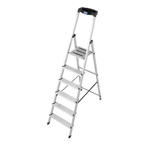 KRAUSE MONTO Leiter Safety Haushaltsleiter Stehleiter 6 Stufen