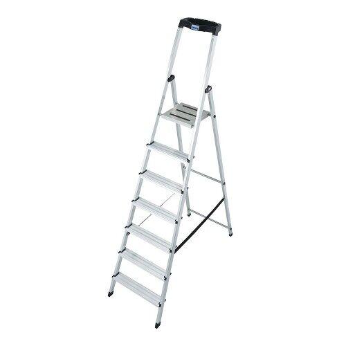 KRAUSE MONTO Leiter Safety Haushaltsleiter Stehleiter 7 Stufen