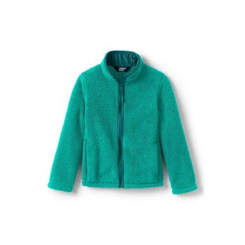 Lands' End Jacke aus Teddyfleece für große Kinder - Grün - 128/134 von Lands' End